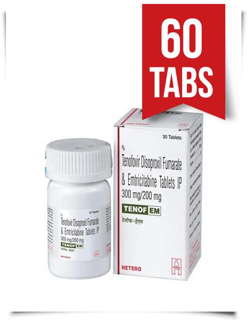 Tenof-EM by Hetero 60 Pills