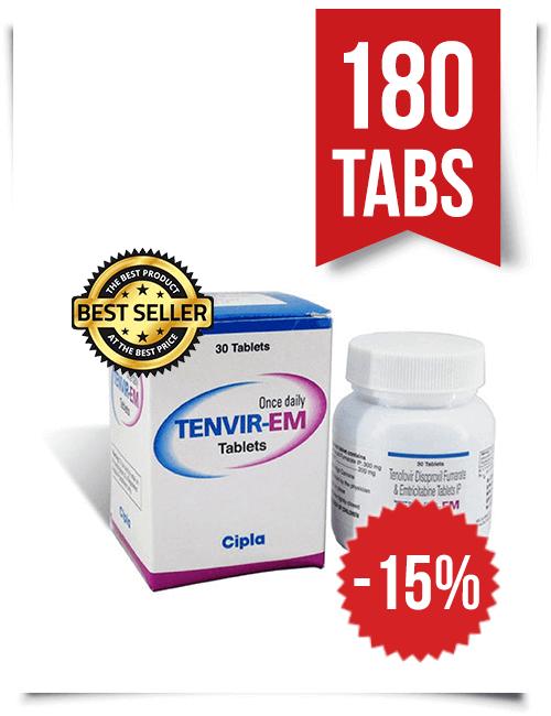 Tenvir-EM by Cipla 180 Pills
