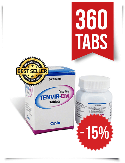 Tenvir-EM by Cipla 360 Pills