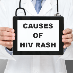 Causes of HIV rash